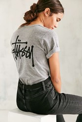 Stussy Basic Stock Heather Tee Grey