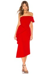 Elliatt Hydrangea Dress Red
