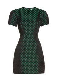 Mary Katrantzou Azurite Short Sleeved Jacquard Dress Green Multi