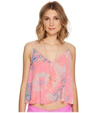 Lilly Pulitzer Aletta Crop Top Multi Never Been Betta Women's Clothing Pink