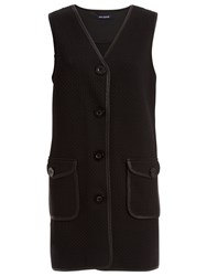Max Studio Textured Ponte Waistcoat Black