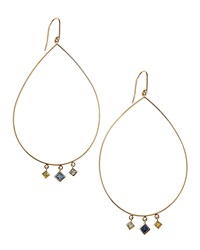 Lana Three Drop Sapphire Hoop Earrings