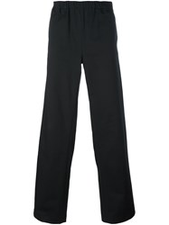 Nicola Indelicato Elastic Waistband Loose Fit Trousers Black