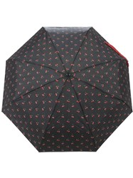 Marc By Marc Jacobs Cherry Print Umbrella Black