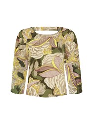 Traffic People Sentimental Summers Whimsical Top Green