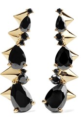 Noir Jewelry Arctic Ice Gold Tone Crystal Earrings One Size