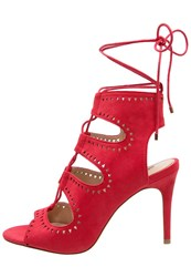 Miss Selfridge Sandy Sandals Red
