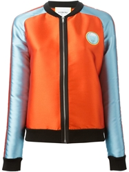 Iceberg Embroidered Patch Sports Jacket Yellow And Orange