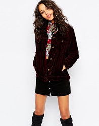 Native Rose Stevie Nicks Velvet Jacket Berry