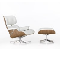 Vitra Lch Lounge Chair And Ottoman Snow