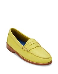 G.H. Bass Whitney Leather Penny Loafers Yellow