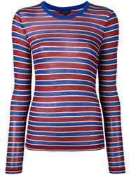 Rag And Bone Avery Striped Sweater Red