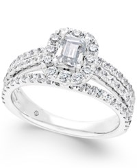 Macy's Diamond Engagement Ring 1 3 4 Ct. T.W. In 14K White Gold