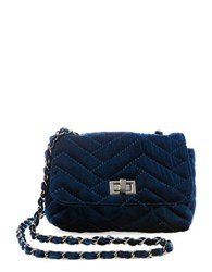 Steve Madden Chant Velvet Crossbody Bag Blue