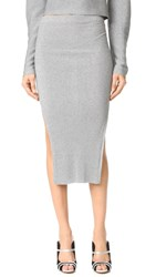 Thierry Mugler Long Skirt Silver