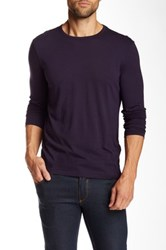 Star Usa By John Varvatos Long Sleeve Crew Neck Tee Purple