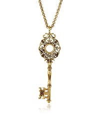 Alcozer And J Necklaces Brass Key Long Necklace