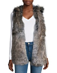 Splendid Faux Fur Vest Brown