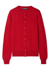 Dolce And Gabbana Cashmere Cardigan Red