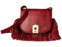 Botkier Clinton Fringe Crossbody Chili Cross Body Handbags Brown