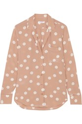 Equipment Keira Polka Dot Washed Silk Shirt Blush