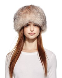 Surell Fox Fur Bubble Hat Crystal