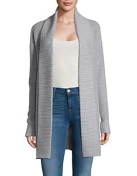 Michael Michael Kors Plus Textured Knit Cardigan Grey