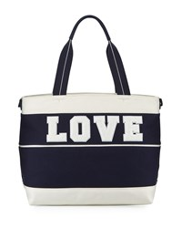 Tory Sport Love Canvas Tote Bag Tory Nvy New Ivry