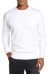 Bobby Jones Men's 'Walker' Tipped Pima Cotton Long Sleeve T Shirt White