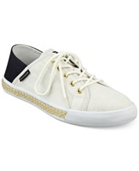Tommy Hilfiger Flip Sneakers Women's Shoes White Navy