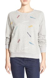 Women's Madewell 'Throwback' Embroidered Sweatshirt