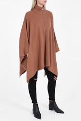 A.L.C. Rory High Neck Poncho Beige
