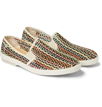 Rivieras Woven Faux Leather Slip On Shoes