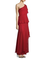 Laundry By Shelli Segal One Shoulder Ruffle Gown Siren