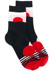Henrik Vibskov Mars Socks Women Cotton Nylon Spandex Elastane One Size Red