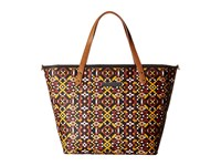 Petunia Pickle Bottom Glazed Downtown Tote Moroccan Mosaic Tote Handbags Brown