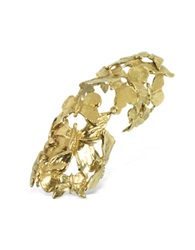 Bernard Delettrez Goldtone Butterflies Articulated Bronze Ring