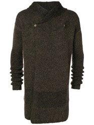 Rick Owens Hooded Fisherman Cardigan Black