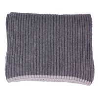 40 Colori Grey Ribbed Wool And Cashmere Scarf