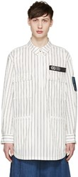 Opening Ceremony White Pinstriped Pullover Jacket
