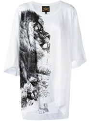 Vivienne Westwood Anglomania Lion Print T Shirt White