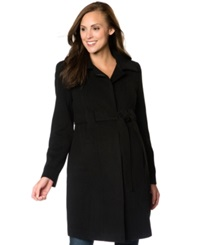 Motherhood Maternity A Line Walker Coat Black