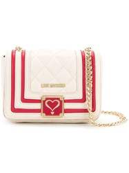 Love Moschino Quilted Crossbody Bag Women Polyurethane One Size Nude Neutrals