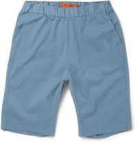 Barena Stretch Cotton Twill Shorts Blue