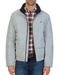Nautica Quilted Down Blend Jacket Seashore Grey