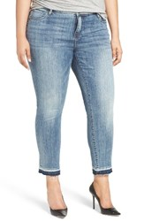 Kut From The Kloth Plus Size Women's Reese Release Hem Straight Leg Jeans