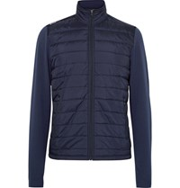 Rlx Ralph Lauren Tretch Wool And Quilted Hell Jacket Navy