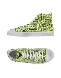 Gienchi Footwear High Tops And Trainers Men Acid Green