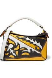 Loewe Puzzle Small Paneled Leather Shoulder Bag Yellow