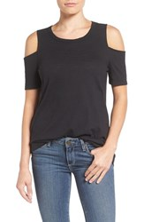 Pleione Women's Cold Shoulder Short Sleeve Tee